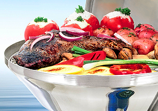 A10-205 / A10-215 - Barbacoa Marine Kettle® de Gas - Alimentos