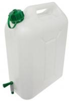 Bidon con grifo para agua. Capacidad 10 litros - Bid�n de material pl�stico para almacenar l�quidos en un m�ximo de 10 litros. Se llena desde arriba y se puede vaciar desde abajo con un pr�ctico grifo. Capacidad: 10 Litros
