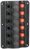 Panel Electrico tipo Rocker LED 6 Interruptores