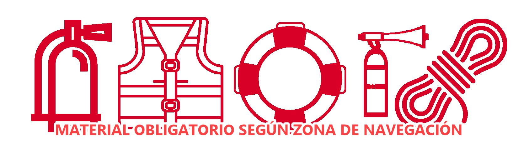Material obligatorio según zona navegación