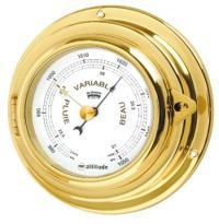 Reloj Luxury Case con Zonas de Silencio + Alarma 90 mm - Caja de latón pulido con apertura frontal..   Esfera 90 mm.   Base 125 mm.   Altura 45 mm.   Figura representada de la serie Luxury Case: Barómetro