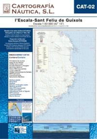 Carta Nautica CAT-02. L´Estartit - St. Feliu de Guixols