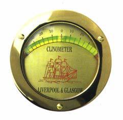 Clinómetro de burbuja - Graduación de 0 º hasta 45 º.   Fijación 3 tornillos.   Dimensiones: 110 Ø x 17 mm..   Ubicación interior