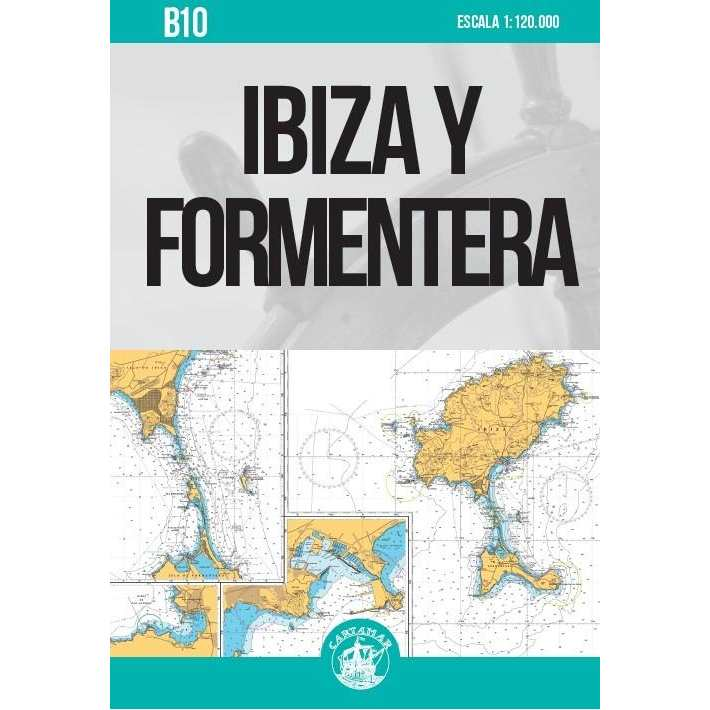 Carta Nautica Ibiza y Formentera B10