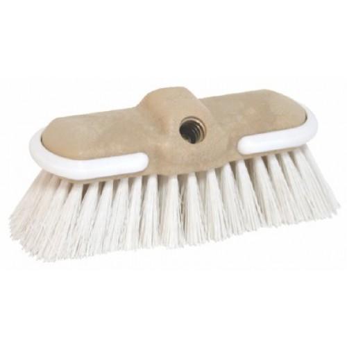 Cepillo Duro 'Flow Thru' para Embarcacion - Puas medianas, H: 5cm - Blanco.   Ideal para limpiar todas las partes de la cubierta. Sus puas retienen espuma y permiten una facil limpieza de zonas con suciedad persistente...
