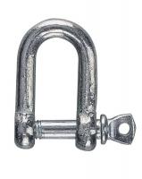 Grillete recto de acero galvanizado - Grillete recto fabricado en acero galvanizado, con pasador..