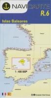Carta Náutica Navicarte R6 - Islas Baleares - R.6 - Islas Baleares.   Edición Francés / Español 2011.   Escala 1:400.000