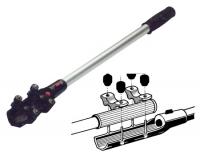 Brazo telescopico con paro, para motores fueraborda - De aluminio anodizado y plástico..   Se adapta a todos los modelos de motores fueraborda..