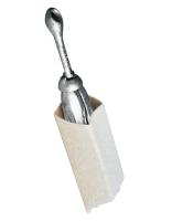 Soporte para ancla tipo rezon plegable - Fabricadas en PVC rigido color blanco.