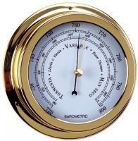 Barometro. Esfera 120 mm - Caja de latón pulido..   Esfera 120 mm.   Base 150 mm.   Altura 45 mm