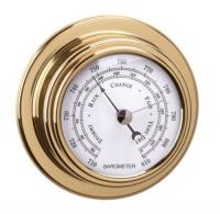 Barómetro Standard Case Esfera 70 mm - Caja de latón pulido y lacado..   Esfera 70 mm.   Base 95 mm.   Altura 40 mm