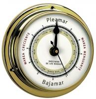 Indicador de las Mareas Laton Pulido 95 / 115 mm. - Caja de latón pulido..   Esfera 95 mm.   Base 115 mm.   Alto desde la base 40 mm
