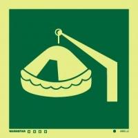 Señal Balsa Salvavidas arriable c/Pescante
