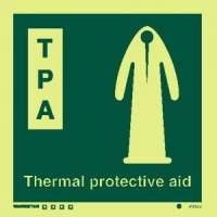 Señal Thermal protective aid (T.P.A.) -c/texto inglés
