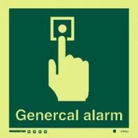 Señal Alarma c/texto inglés