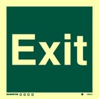Señal Exit - Medidas 150mm x150mm.   Vinilo autoadhesivo.   Fotoluminiscente