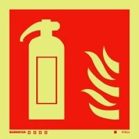 Señal Extintor - Medidas 150mm x150mm.   Vinilo autoadhesivo.   Fotoluminiscente