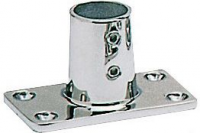Tintero para Candelero Base Rectangular 90 Grados, Inox AISI 316, Diam. 22 o 25mm - Tintero Base Recta 90° Diam. 22 o 25mm. Material Inox AISI 316