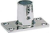 Tintero para Candelero Base Rectangular 90 Grados, Inox AISI 316, Diam. 22 o 25mm