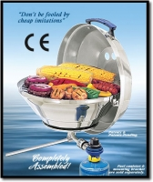 Barbacoa de Gas Magma Marine Kettle Party A10-215CE-2 de 432mm