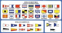 Señales Maritimas - Codigo Internacional. Adhesivo - Adhesivo de las señales marítimas del Código Internacional de Señales.
