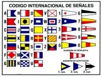 Codigo Internacional de Señales. Adhesivo - Adhesivo de las señales marítimas del Código Internacional de Señales..   Contiene imagen de las banderas y las señales numéricas..   Medidas: 120 x 160 mm