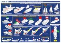 Luces - Reglamento Internacional para Prevenir los Abordajes en la Mar. Adhesivo electrostatico - Adhesivo electrostatico con las luces del Reglamento Internacional para Prevenir los Abordajes en la Mar..   Adhesivo sin pegamento