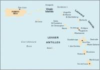 Carta Náutica Lesser Antilles - Carta náutica A. Lesser Antilles - Puerto Rico to Martinique. Passage Chart .   Edición inglesa.   Escala 1: 930.000