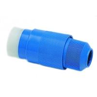 Conector Electrico para Base 30 Amp. - Conector Azul hembra, fabricado en material resistente a los rayos UV y totalmente estanco.