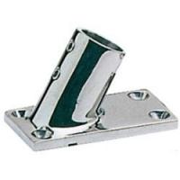 Tintero para Candelero Base Rectangular 60 Grados, Inox AISI 316, Diam. 22 o 25mm
