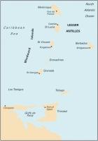 Carta Náutica Lesser Antilles - Carta náutica B. Lesser Antilles - Martinique to Trinidad. Passage Chart .   Edición inglesa.   Escala 1: 388.000