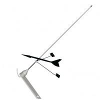 Antena VHF BANTEN DC/Windex C-53, acero inox. para Velero - Antena VHF para veleros: 1 m - 0 db - sin cable - tipo látigo con veleta