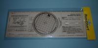 Transportador nautico tipo Breton mod. Run:Chart BRT-35 - Con 4 orificios que facilitan el giro del círculo.   Lectura simultánea de los rumbos Aguja, Verdadero y Superficie en la graduación especial para correcciones..   Medidas: 350x120x1 mm