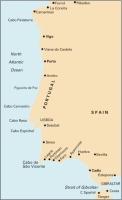 Carta Náutica Cabo Finisterre to Gibraltar Passage Chart - Carta náutica C19. Cabo Finisterre to Gibraltar Passage Chart.   Edición inglesa.   Escala 1: 758.000