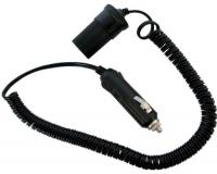 Cable de alargo para toma tipo encendedor 12 / 24V - Extensión de cable con conector para toma tipo mechero..   12V / 24V.   Max 4,5 A - Max 54 W.   Longitud cable 3 m