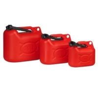 Deposito de Combustible con vertedor - Deposito para el transporte de combustible..   Homologado y certificado en toda Europa..   Tapón con junta y vertedor flexible con tuerca loca y junta. Anti-vuelco.  Capacidad: 5, 10 o 20 litros