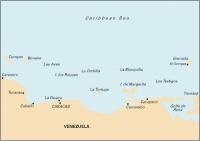Carta Náutica Venezuela - Gulf of Paria to Curaçao - Carta náutica D. Venezuela - Gulf of Paria to Curaçao. Passage Chart.   Edición inglesa.   Escala 1: 1.021.000