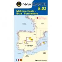 Carta Náutica Navicarte E02 - Majorque Ouest - Ibiza - Formentera