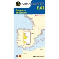 Carta Náutica Navicarte E03 - Costa Brava: Banyuls - El Estartit