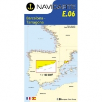 Carta Náutica Navicarte E06 - Costa Dorada: Barcelona - Tarragona - E06 - Costa Dorada: Barcelona - Tarragona.   Edición Francesa.   Escala 1:100.000