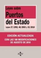 Ley sobre puertos del Estado - Leyes 27/1992, 48/2003 y 33/2010 - Esta edición ofrece los textos de la Ley 27/1992, de 24 de noviembre, de Puertos del Estado y de la Marina Mercante; de la Ley 48/2003, de 26 de noviembre, de régimen económico y de prestación de servicios de los puertos de interés general, y de la Ley 33/2010, de 5 de agosto...