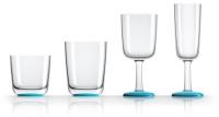 Vasos y Copas Antideslizantes Palm. Juego 4 Piezas - Ideal como menaje náutico: Puedes utilizarlos para almuezos y cenas en barco. Sistema antiescora, antibalance y anticabezada.