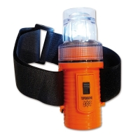 Linterna de Auxilio SOS Flotante con LED - Cuerpo ABS y óptica de policarbonato. .   Flotante y resistente al agua hasta 100 metros.