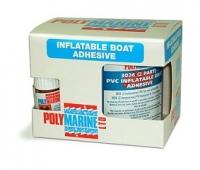 Adhesivo Polymarine 2 Componentes para PVC 250ml - Adhesivo 2 componentes con endurecedor para adhesiones de alta resistencia..   Se utiliza en la fabricación de neumáticas y para reparaciones duraderas..   Adhiere al PVC, Dynalon (Zodiac / Bombard), Strongon, Hypertex (narwhal / Valiant). No adhiere al Hypalon ni al caucho.