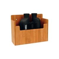 Soporte Bamboo para Prismaticos - Soporte para interior, compuesto de laminas pegadas y fabricado a partir de caña de bambú.