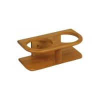 Soporte Bamboo para 2 vasos - Soporte para interior, compuesto de laminas pegadas y fabricado a partir de caña de bambú.