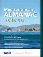 Mediterranean Almanac 2015/16 - Rod and Lucinda Heikell - The essential companion and general handbook for the Mediterranean, the Imray Mediterranean Almanac 2015-16 is published in full colour...