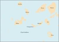 Carta Náutica Imray G33 - Southern Cyclades - Carta náutica G33. Southern Cyclades - (Sheet 1 - West).   Edición inglesa.   Escala 1: 190.000