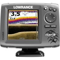 Lowrance Hook-5x Sonda Color DownScan Imaging - El HOOK-5x combina las ventajas de la sonda CHIRP y la tecnología DownScan Imaging™ para ofrecer una visión completa del entorno submarino bajo su embarcación..   Incluye Transductor HDI Skimmer XDCR 83/200 455/800 kHz