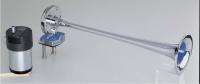 Bocina electroneumatica Cromada tipo trompeta HIDRA 1 - Bocina con compresor para uso marino, de 12V o 24V tipo trompeta. Cuerpo de metal totalmente cromado.